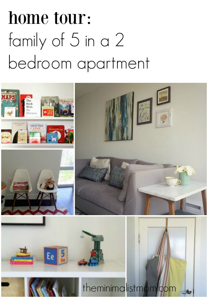 Home Tour Our Family Of 5 Lives In This 2 Bedroom Apartment And We Love It Tour A Nd Photos On The Blog On How 2 Bedroom Apartment Home Small Space Living