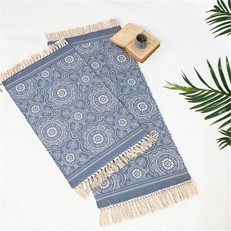 Photo of Handwoven Blue Oriental Carpet