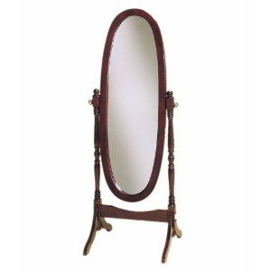 French Furniture Cheval Mirror In Cherry Finish Cheval Mirror Floor Standing Mirror Oval Mirror