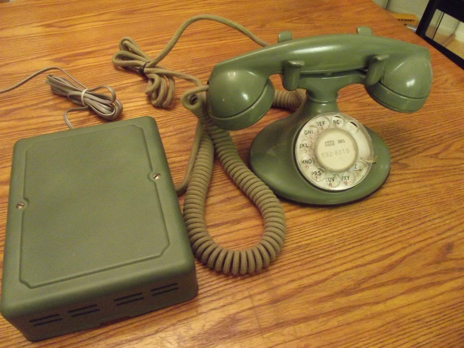 WESTERN ELECTRIC 202 DESK TELEPHONE W/F1 HANDSET,5H DIAL, & SUBSET | eBay