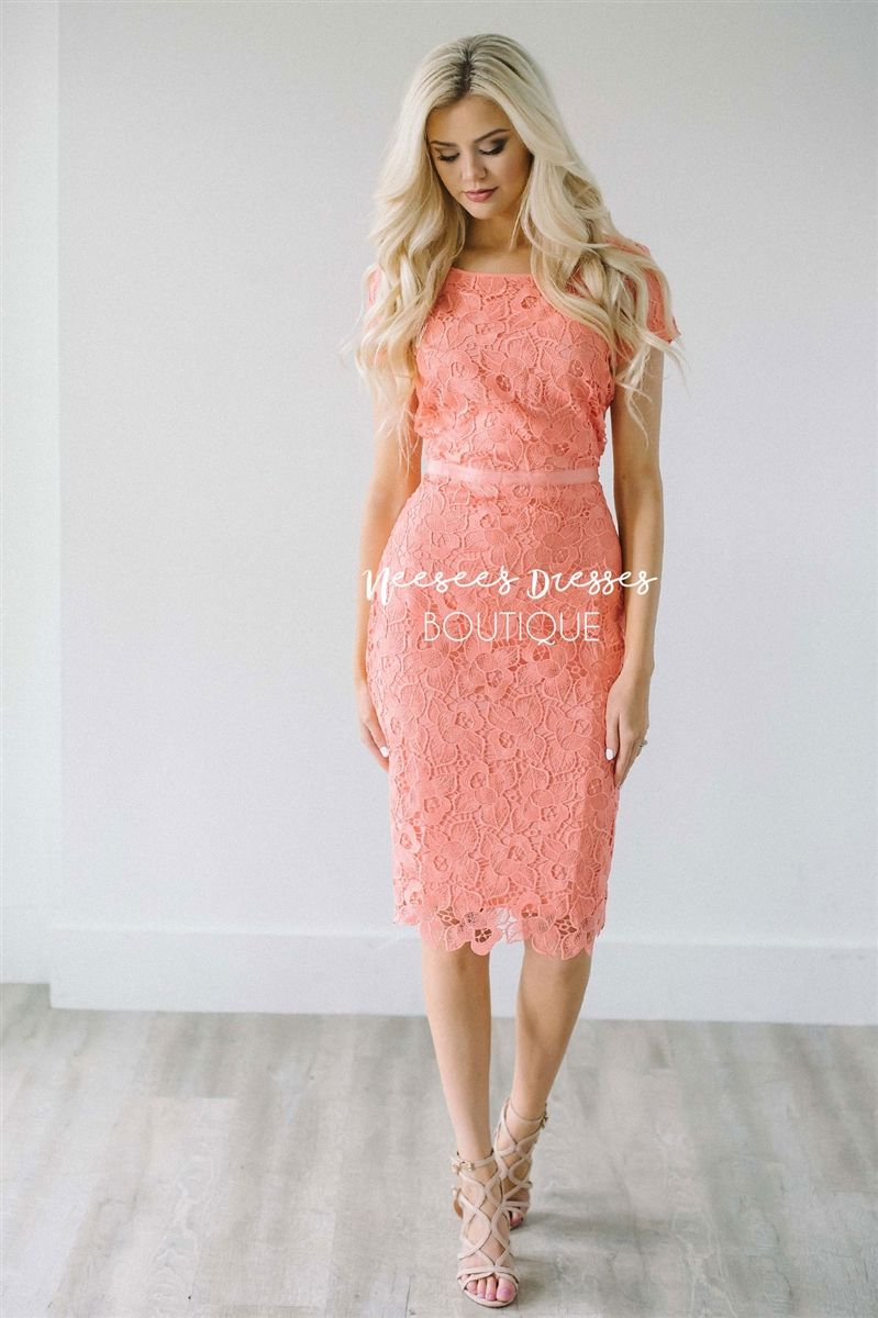 Don\'t blink or this beautiful summer coral dress will be gone ...
