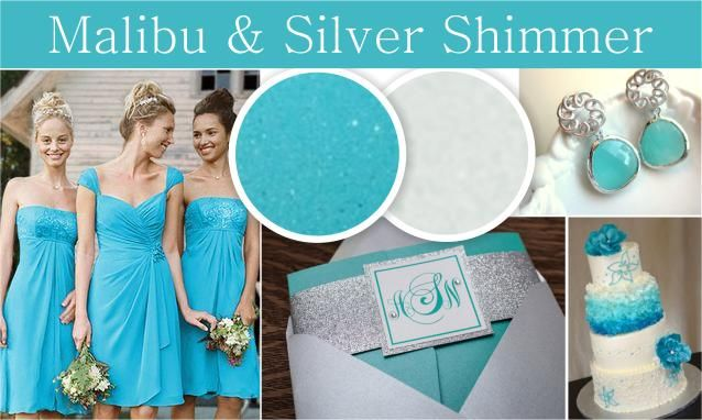 Malibu blue and silver wedding. Beach wedding color combinations ...