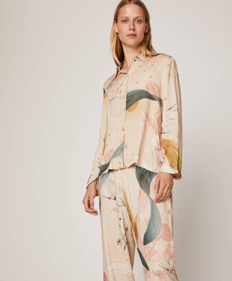 Akalnny Womens Pyjama Sets Long Sleeve Soft Cotton Ladies Pjs Loungewear Nightwear Sleepwear with Pockets