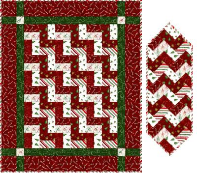 Moda Fabric Holly Taylor HOLIDAY IN THE PINES TABLE TOPPER QUILT KIT Pattern