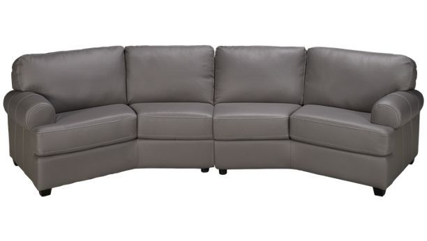 Palliser Bakersfield 2 Piece Leather Sectional   Jordanu0027s Furniture For  That Bay Window