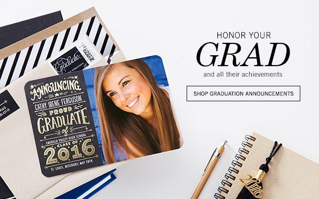 graduation invitations graduation announcements at tiny prints