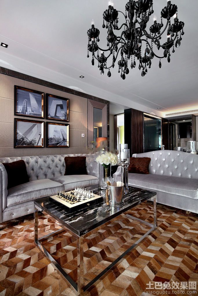 New classic chandeliers decorating the living room effect chart | Living Room