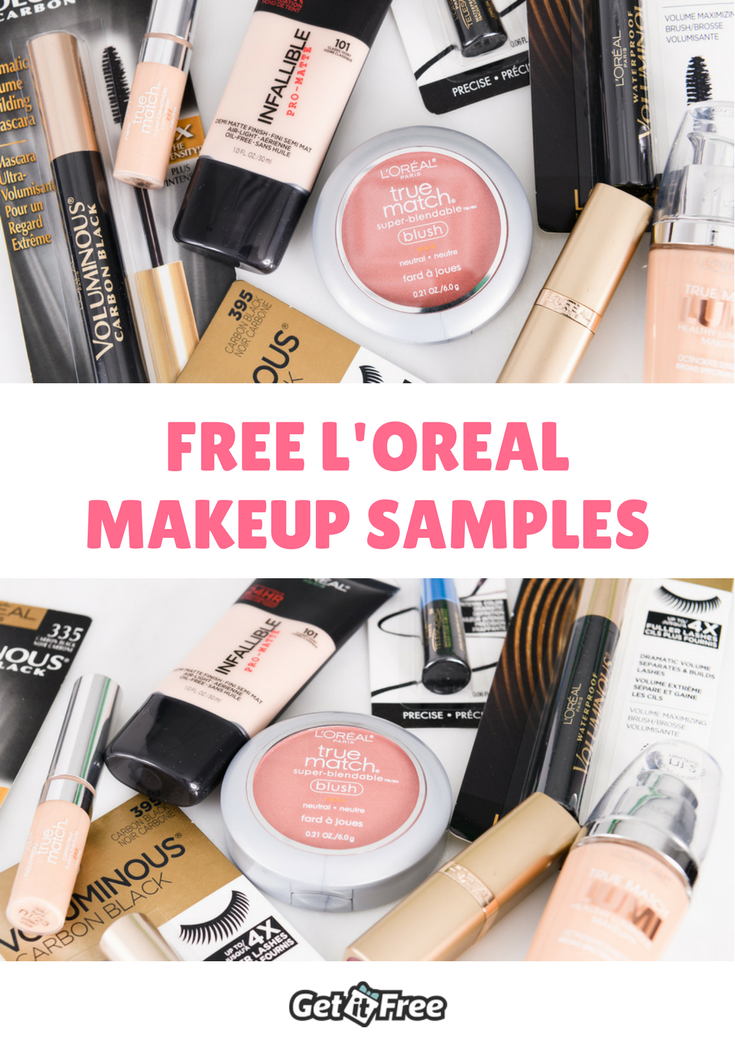 Try L'Oreal makeup samples before you buy! We also have