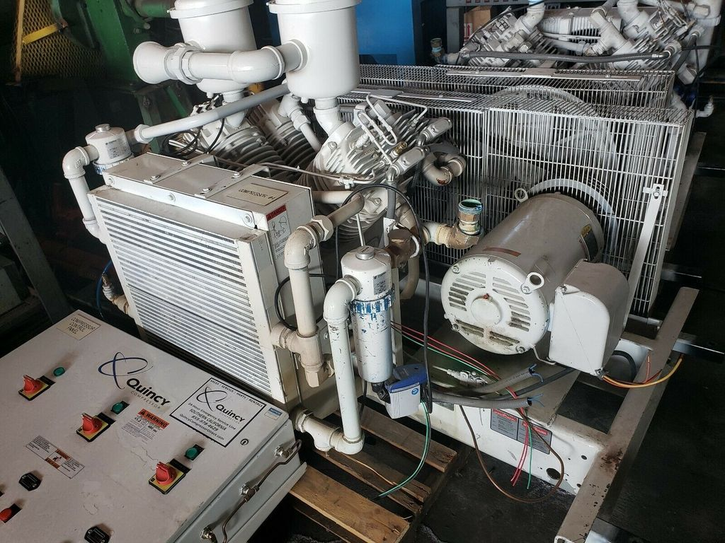 Quincy model qrdt 30 oil free 2 stage 30 hp reciprocating