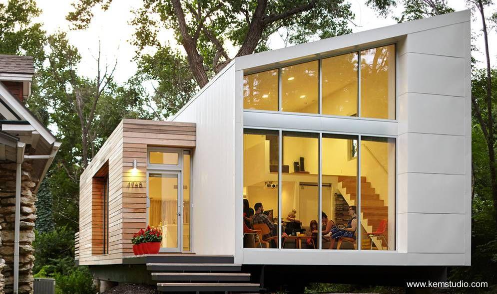 Casa pequeña americana interior de loft - Small house in Kansas city ...