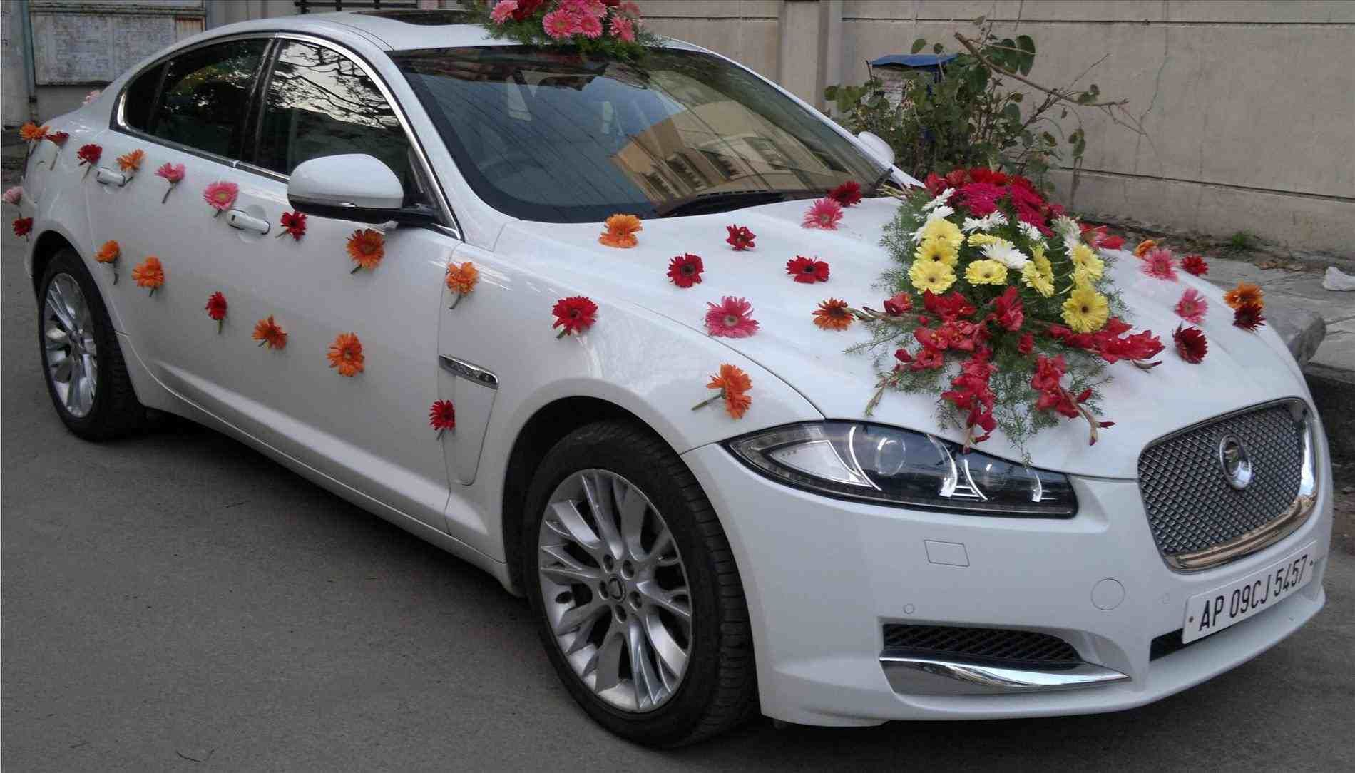Indian Wedding Car Decoration Ideas Desain Pernikahan