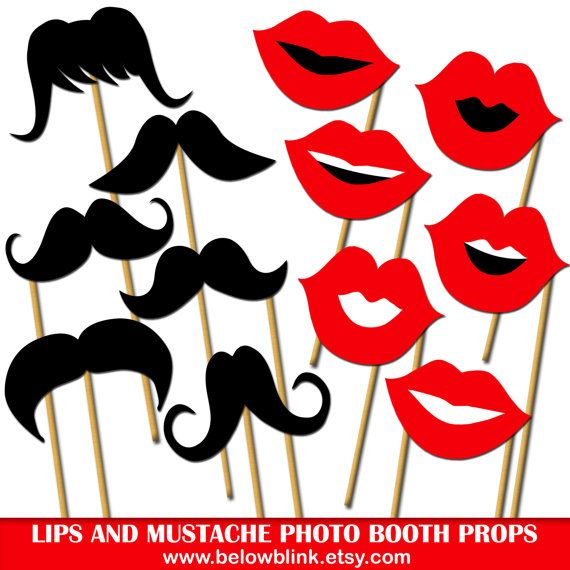 image regarding Printable Mustache and Lips known as Lips and Mustaches Image Props, Printable Photograph Booth Props