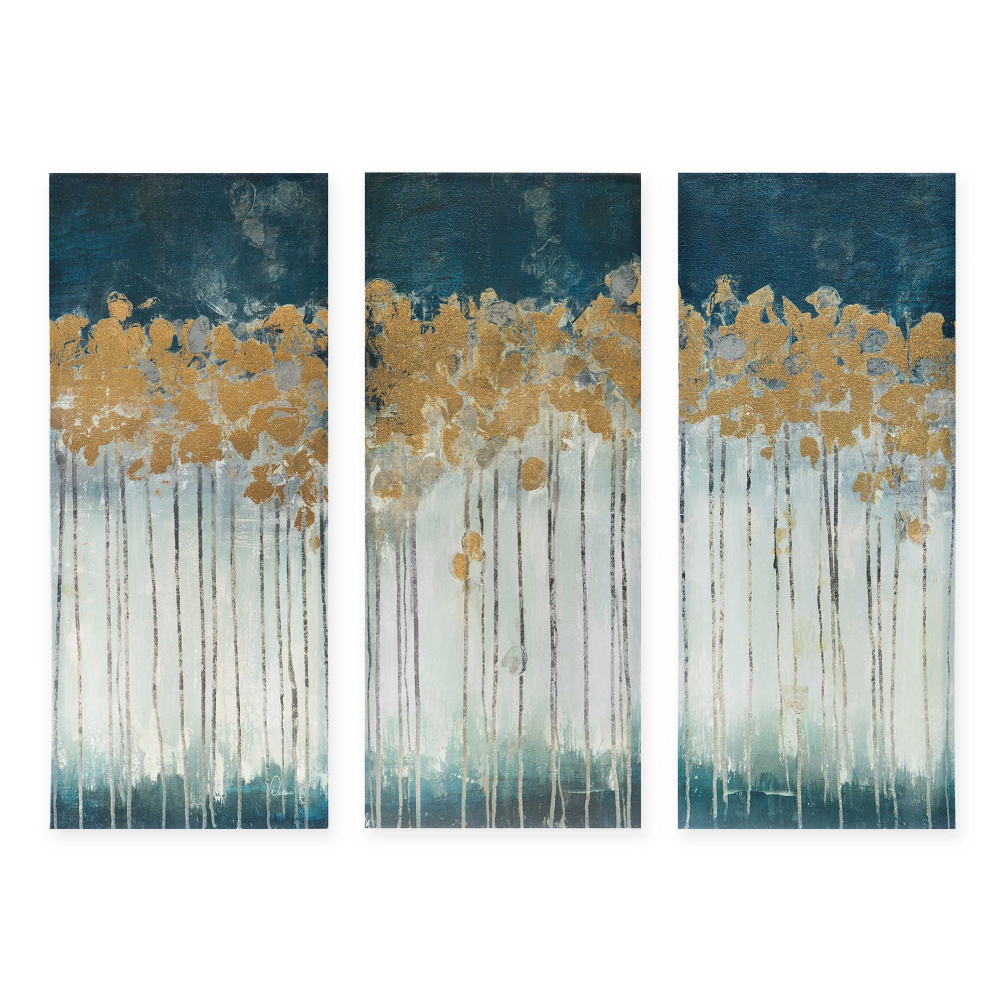 Madison Park Midnight Forest 3 Piece Canvas Wall Art