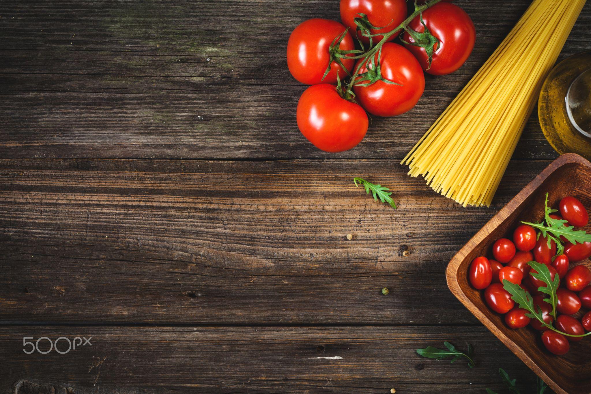 Italian cuisine food background Italian cooking