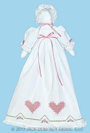 Jack Dempsey Stamped White Pillowcase Doll Kit Sunbonnet Sue
