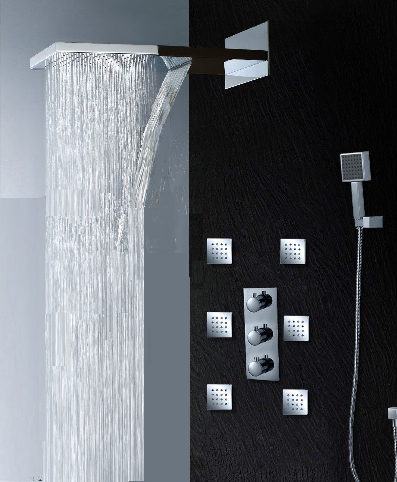 Ultra Shower Set Zbd Designed To Be Lightweight Rain Shower Bathroom Shower Heads Shower Systems