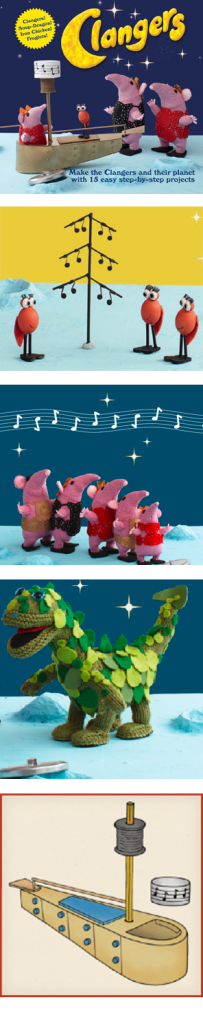 Clangers - this year's Christmas break knitting project