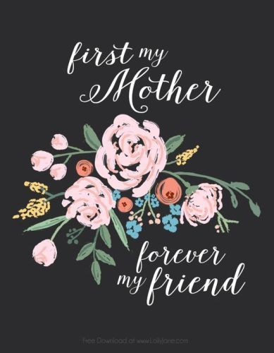 Happy Mothers Day Greeting Cards For Mom From Kids My Mom Is Forever My Best Friend Happy Mothers Day Images Mother S Day Printables Mothers Day Images