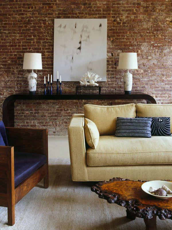 Brick wallpaper design in living room brick wallpaper pinterest bricks wallpaper and for Living room with brick wallpaper