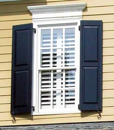 Heavy Duty Paneled Recessed Stile & Rail Exterior Shutters ...