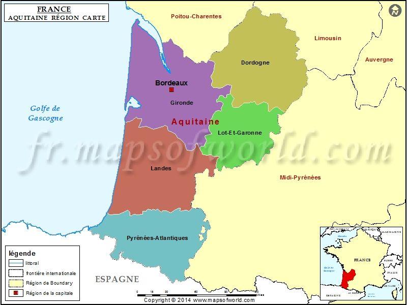 Carte D Aquitaine Aquitaine France Map