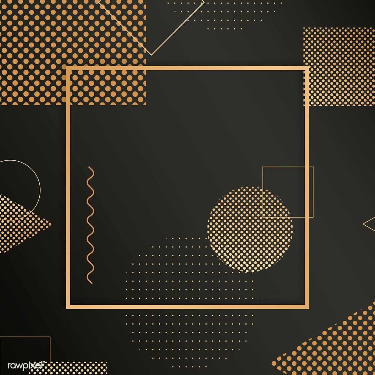 2020 的 Download premium vector of Square frame on halftone