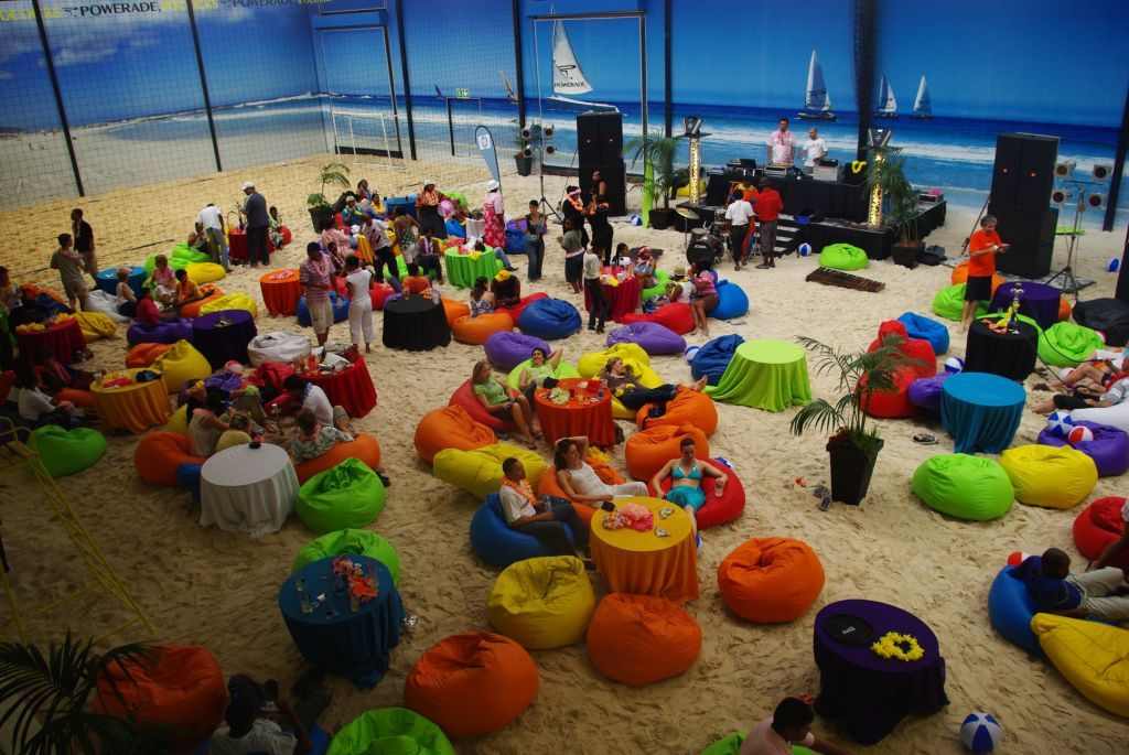 Host Your Year End Party At Our Indoor Beach Venue With Any Theme You Like