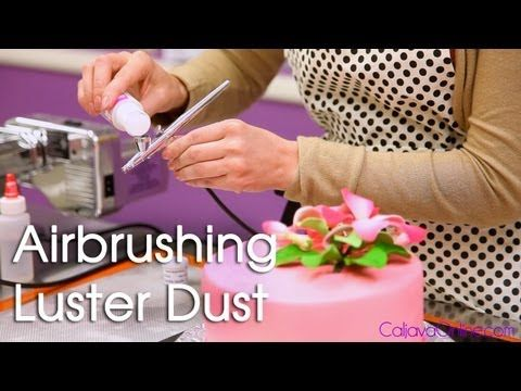 How to Use Luster Dust with an Air Brush on a cake