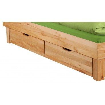 Massivholz Schlafzimmer Bettkästen 2erSet 'Lewis
