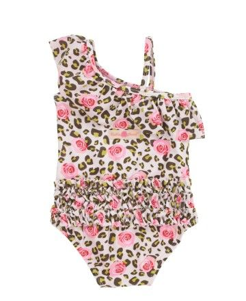 96af62855259 New RuffleButts Swimwear!! RuffleButts | Wild Child One-Shoulder One Piece