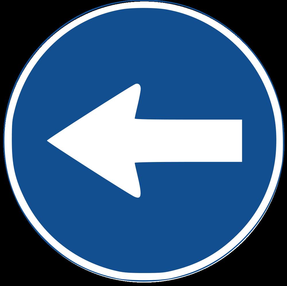 Sentido obligatorio a la izquierda (r400b) | Obligation Sign ...
