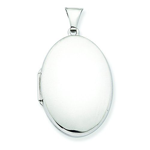 Sterling Silver Polished 32mm 2-Frame Oval Locket Shop4Silver. Pretty and simple.