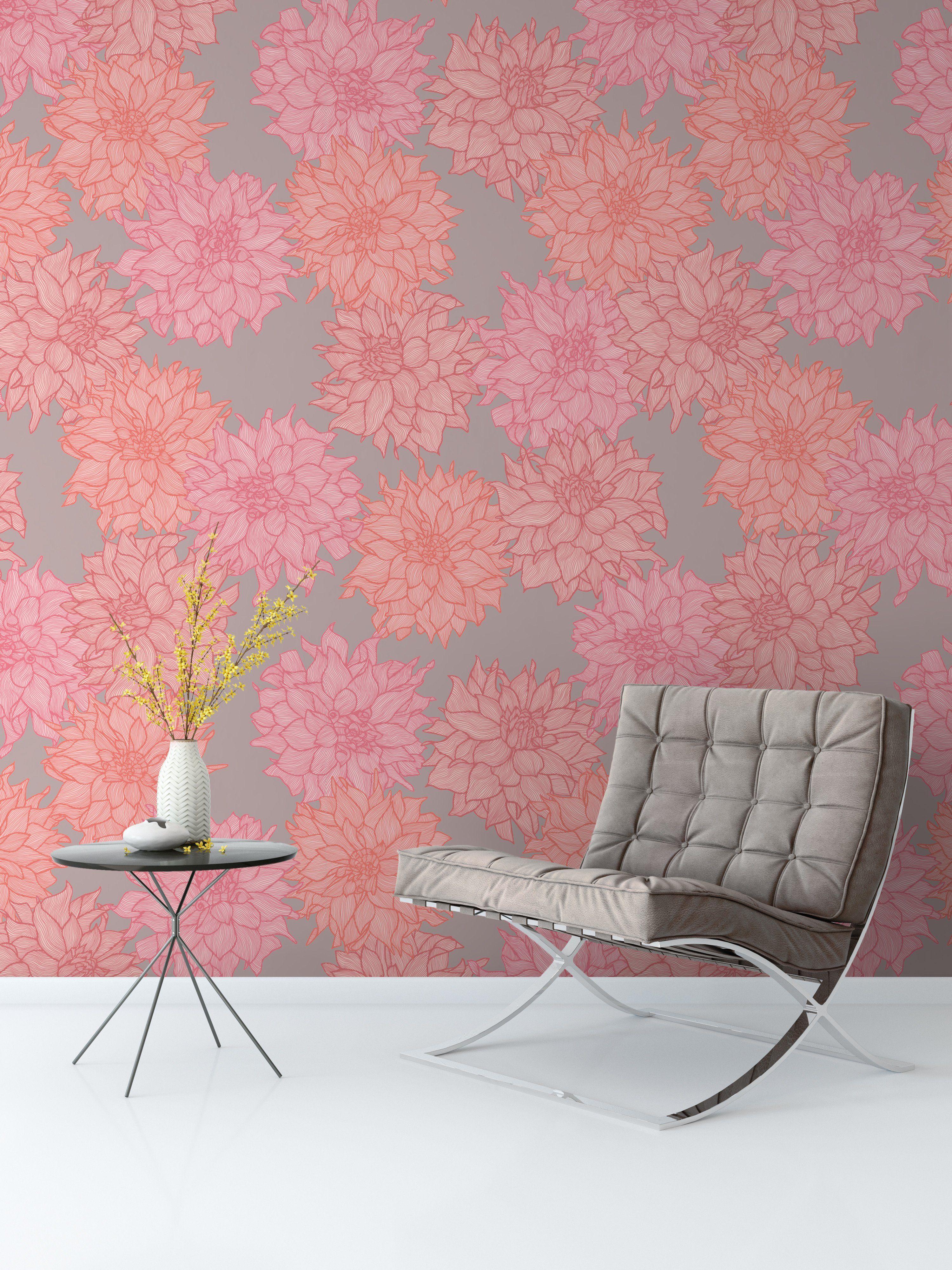 Dahlia Belle Bright Wallpaper Bright Wallpaper Soft Wallp