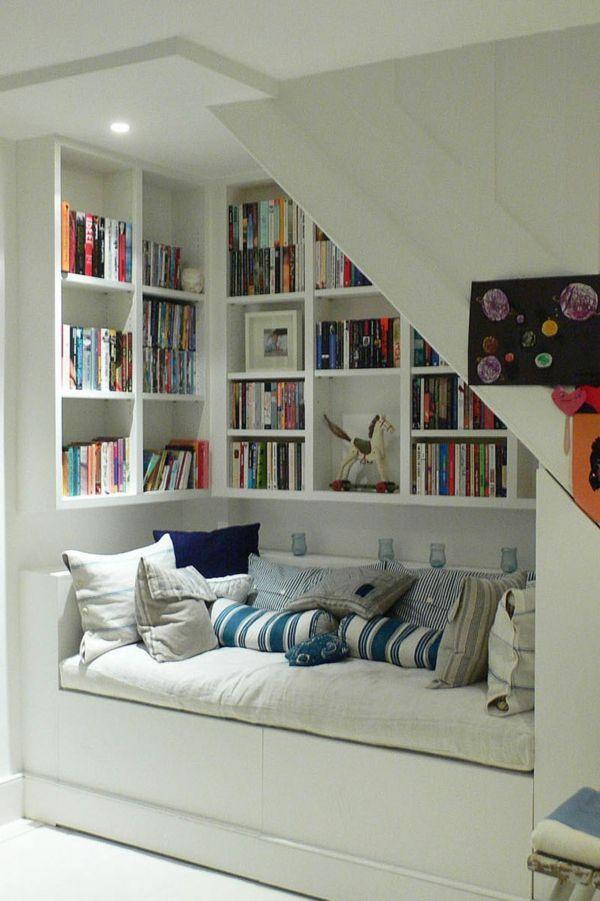 Moderne Treppen – Benutzung der Fläche unter der Treppe – schöne Ideen