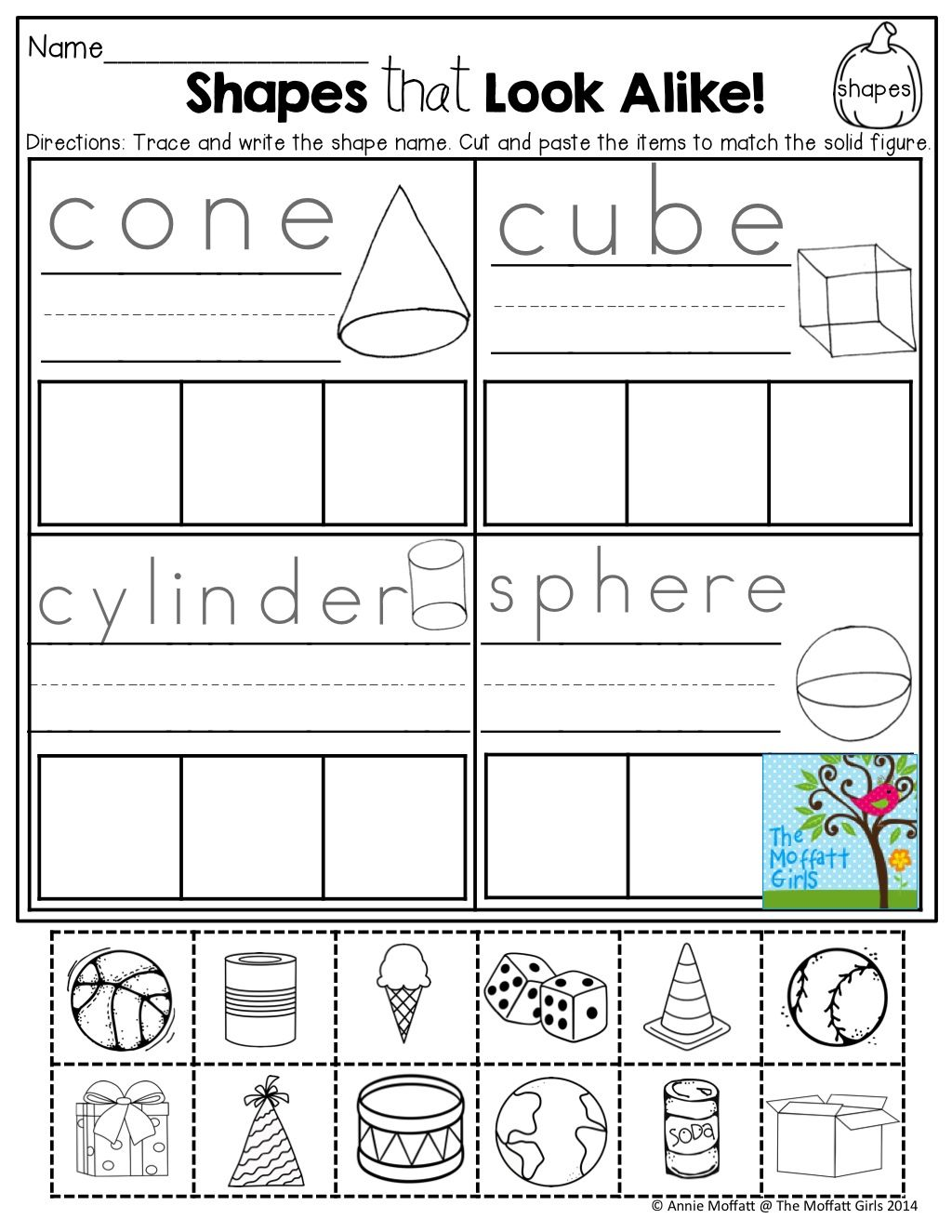 worksheet Solid And Plane Shapes Worksheets shapes cut and paste tons of fun printables number printables