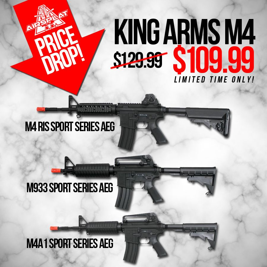 PRICE DROP! (Limited Time Only!) Pre-Order these King Arms M4 Rifles ...