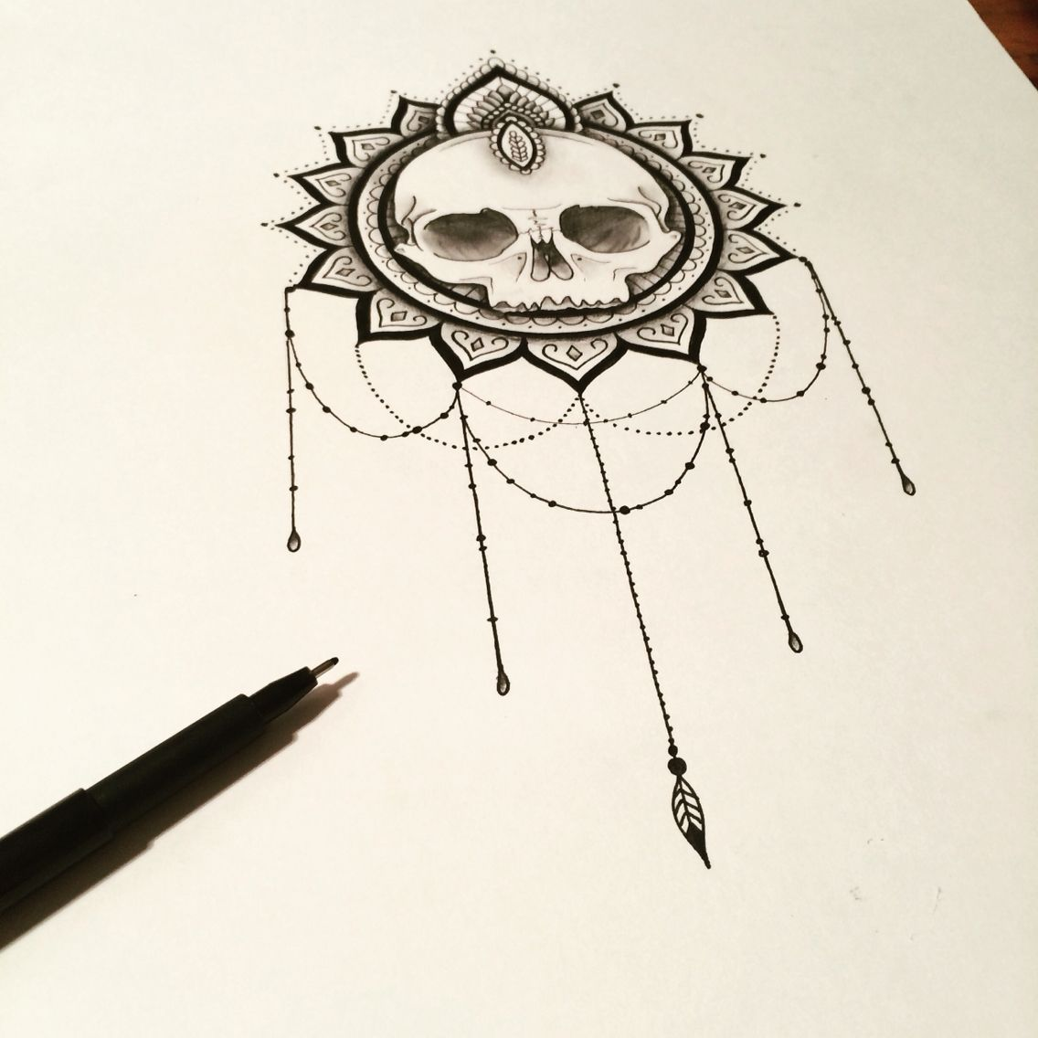 collier de perle tatouage