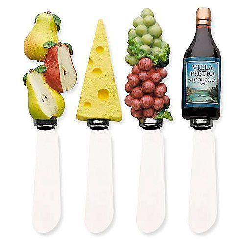 Boston Warehouse Wine and Cheese Spreader, Set of 4 | Kitchenwarecide Store