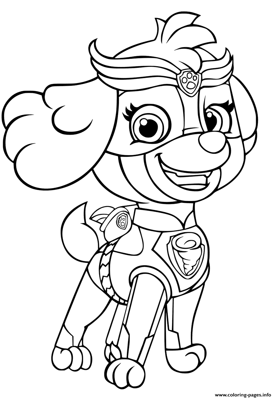 Print Paw Patrol Mighty Pups Skye For Girls Coloring Pages Paw Patrol Coloring Pages Paw Patrol Coloring Peppa Pig Coloring Pages