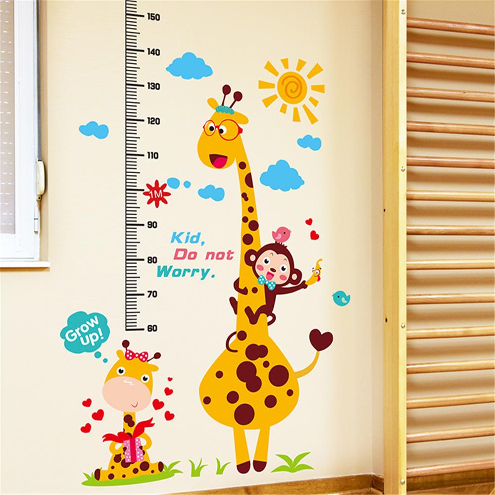 $6.64 - Removable Cartoon Animal Wall Stickers Kindergarten Kids ...