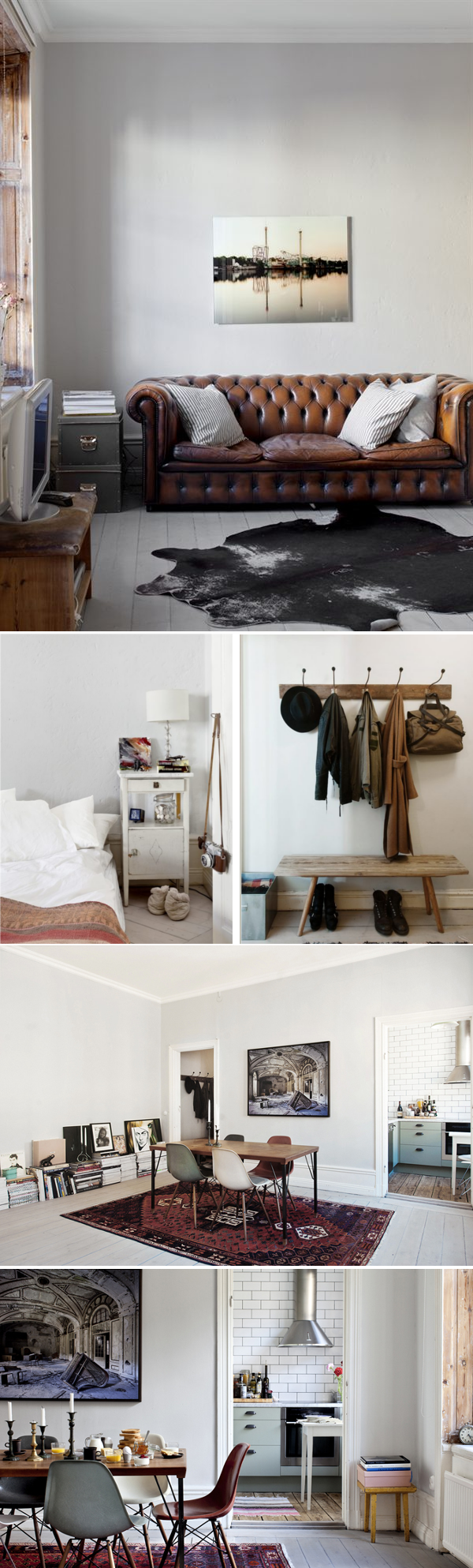 42m2 Stockholm // I love everything, except for the animal rug in the first
