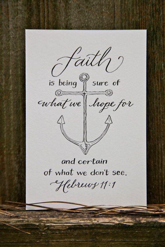 Hand Lettered Scripture Print Hebrews 11 1 Bella
