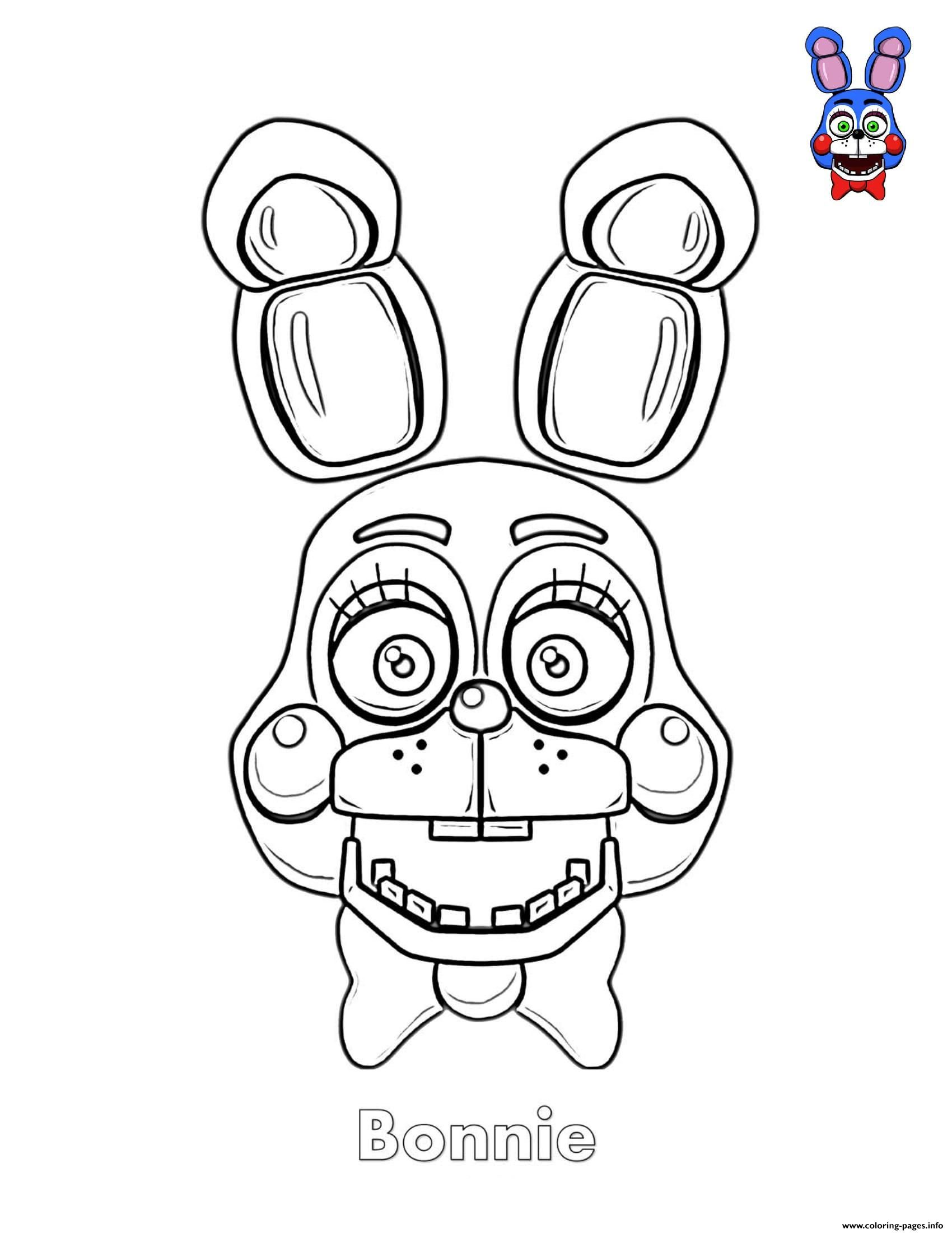 Print Bonnie Face Fnaf Coloring Pages Coloring Pages Printable