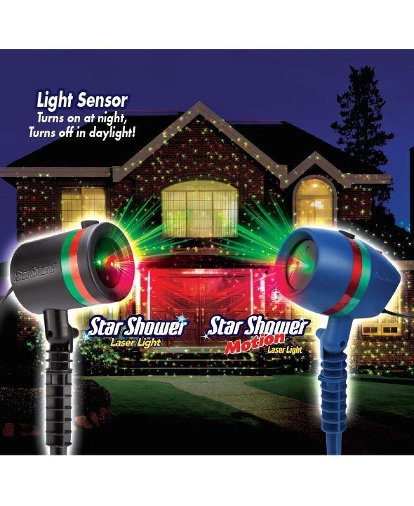 Outdoor Christmas Light Show Yard Motion Laser Flurries Stake Projector Decor Unbranded Outdoor Christmas Star Shower Laser Light Christmas Lights