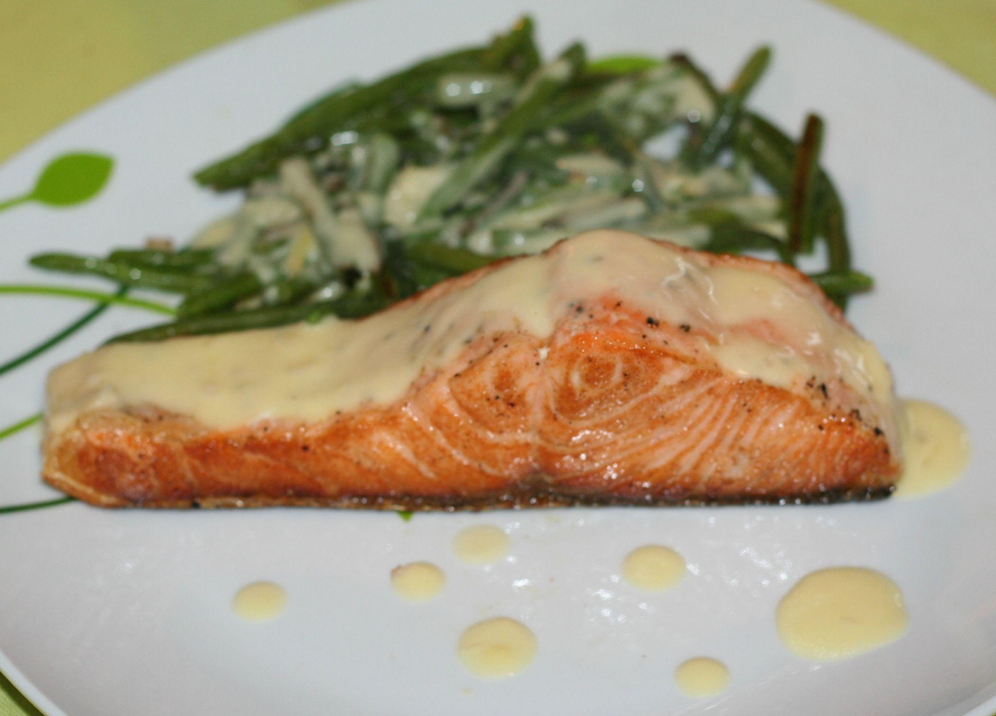 Pavé de saumon sauce beurre citronné à la plancha