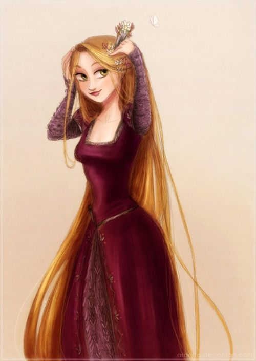 Rapunzel. . . dressing up like her 'mother' Gothel?