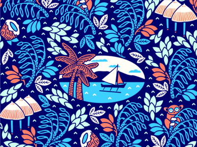 Philippines Pattern [ recolored ] Vintage art prints