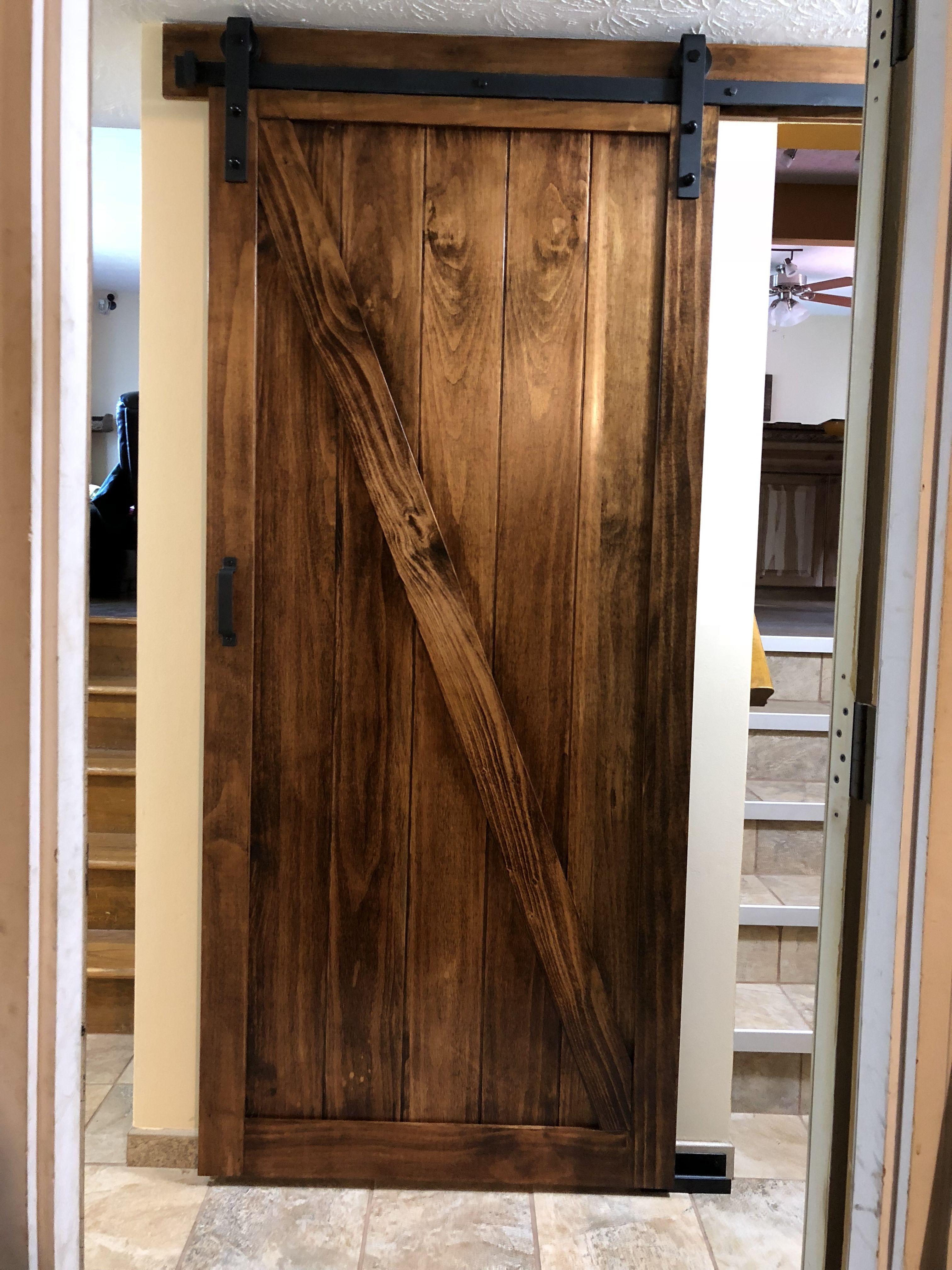 Barn Door For Split Level Stairs Barn Door Slider Door House Interior