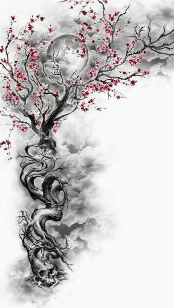 My Tattoo Change Change Cherryblossom Tattoo Diytattooimages Tree Sleeve Tattoo Tree Tattoo Designs Japanese Tattoo Symbols