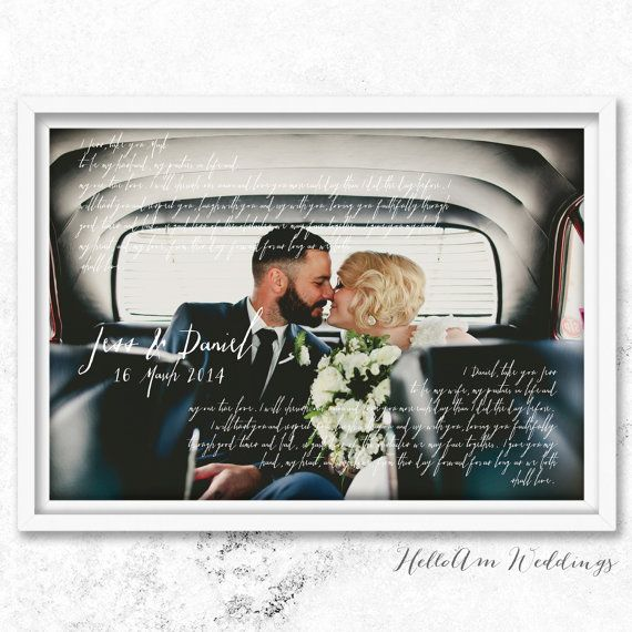 Ruby Wedding Gift Ideas For Husband: Wedding Anniversary Gift For Him Wedding Vows Paper By